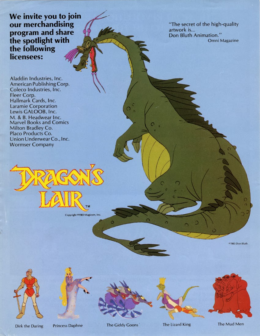 Dragon's Lair Animated Laserdisc Arcade Game | stepping