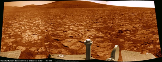 Opportunity-nears-Solander-Point_Sol-3385_1a_Ken-Kremer-
