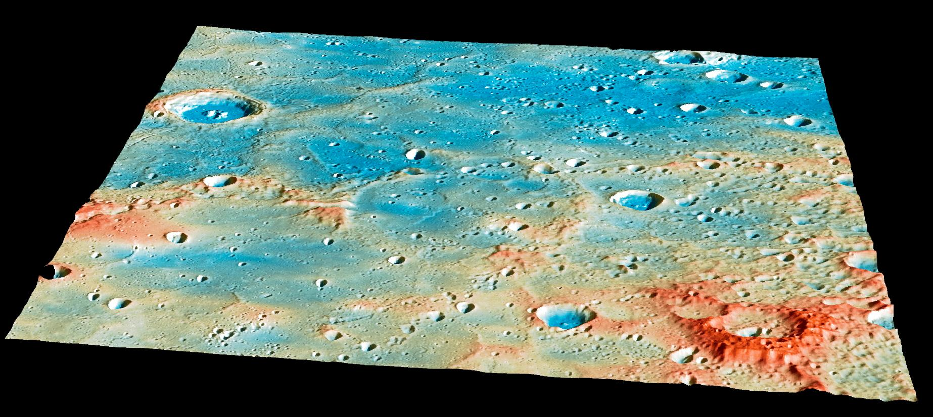 Overview of MESSENGER Spacecraft's Impact Region on Mercury