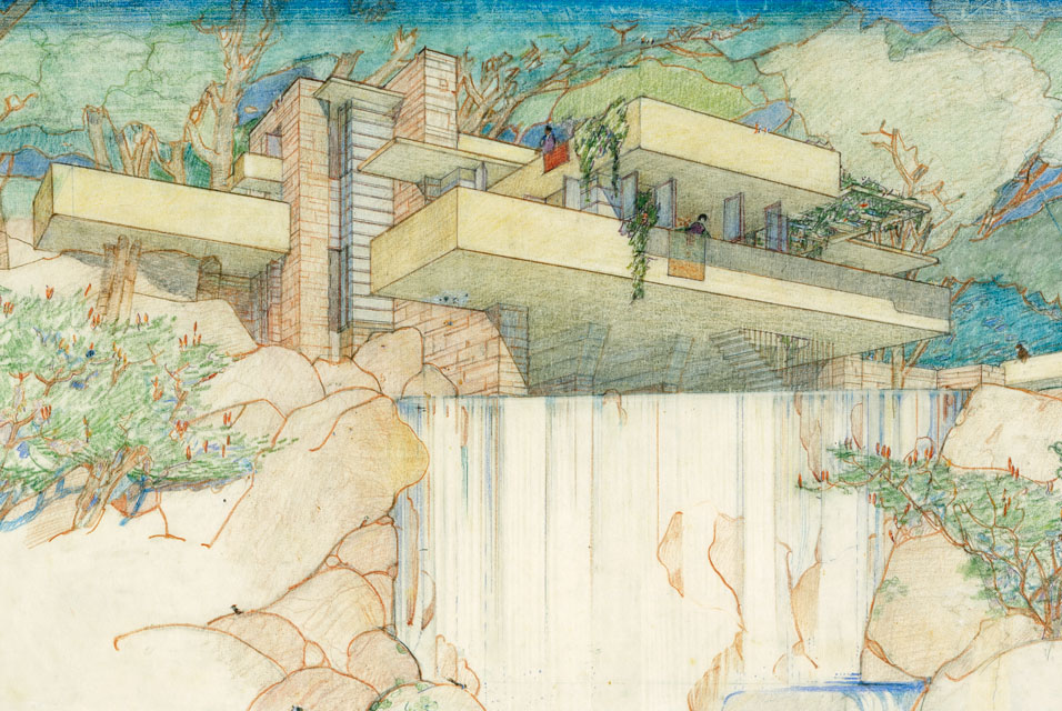Frank lloyd wright 1867 1959 stepping outside to observe for Disegno della casa