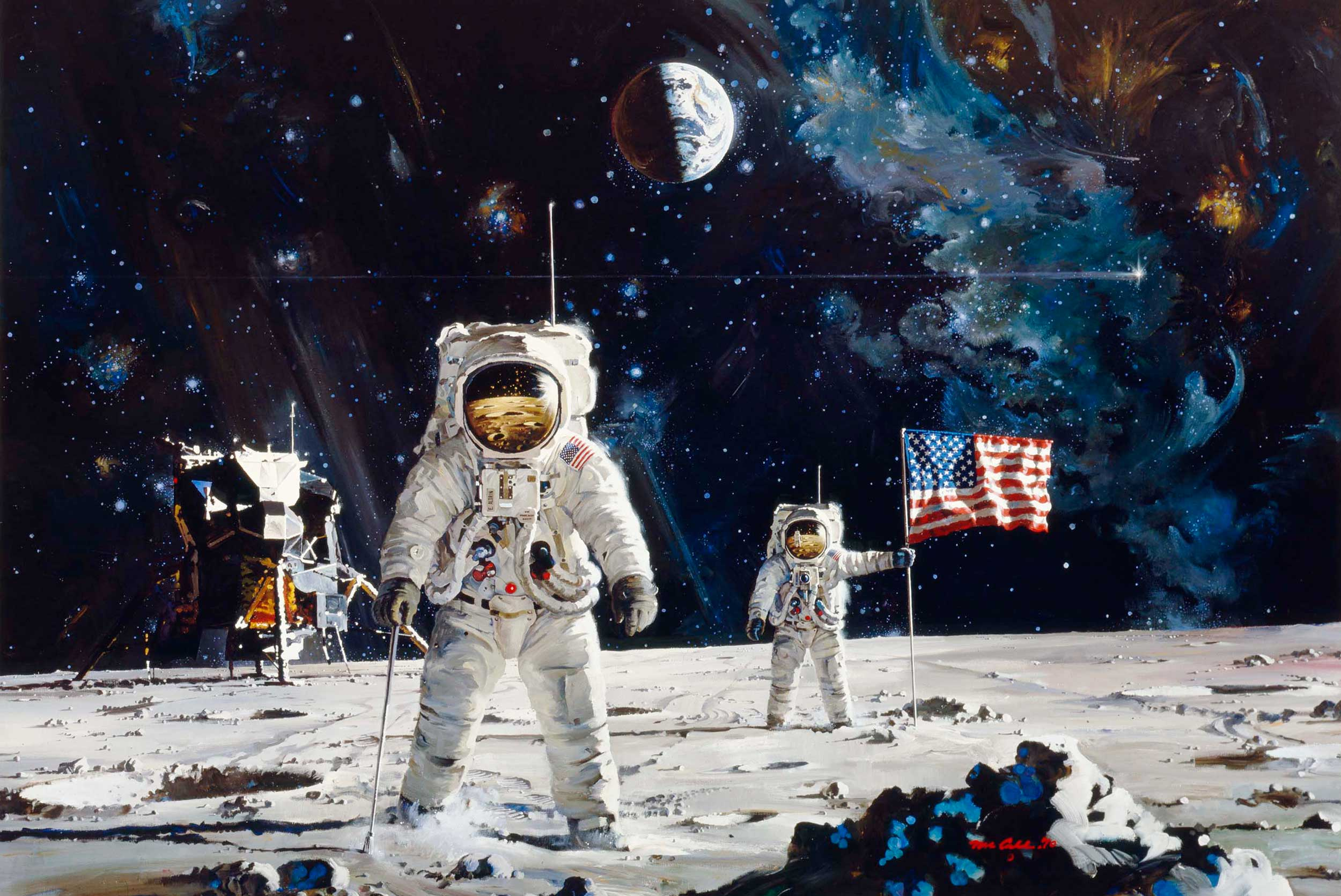 Robert mccall stepping outside to observe for When was space made