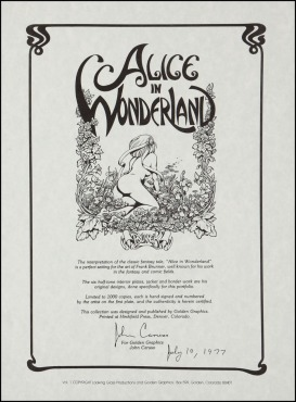 Alice in Wonderland Frank Brunner Back Cover