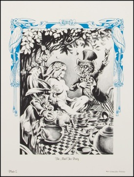 Alice in Wonderland Frank Brunner Plate 5