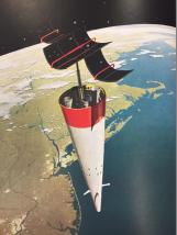 Plate XX. An unmanned instrument-carrying satellite in its orbit